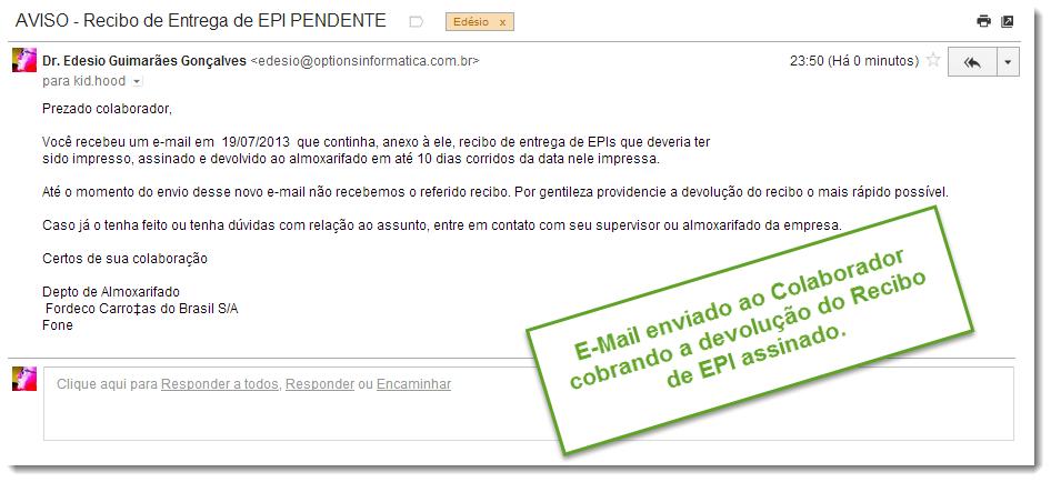 893e07de5ddc8 Cobrança da Devolução do Recibo de EPI Assinado por Email